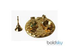Om Brass Thali