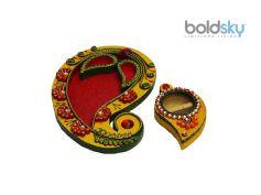 Colourful Wodden Thali