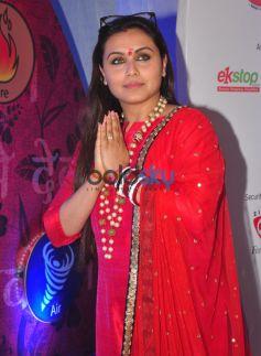 Rani Mukherjee visits Eco Friendly Ganesha Celebrations at Funrepublic