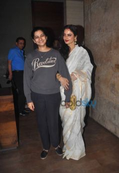 Rhea Kapoor and Rekha