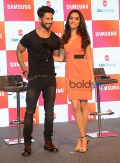 Shahid Kapoor, Shraddha Kapoor At Club Samsung App Launch