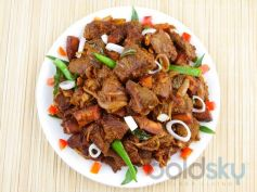 Andhra Style Mutton Pepper Fry