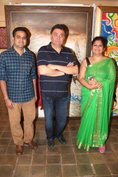 Rishi Kapoor,.Seema Chaudhary & Nitin Chaudhary's Art Show