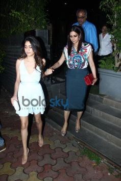 Sridevi With Her Family Snapped At A Restaurant