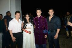 Aamir Khan, Arpita Khan, Aayush Sharma And Salman Khan