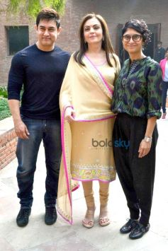 Aamir Khan, Kiran Rao And Nita Ambani