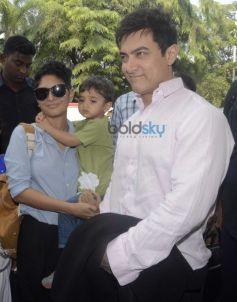Aamir Khan And Kiran Rao With Son Azad
