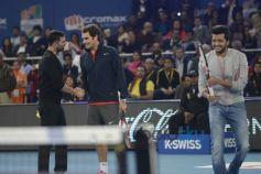 Roger Federer, Akshay Kumar, Ritesh Deshmukh
