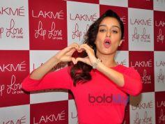 Shraddha Kapoor At Launch Of Lakme Lip Love Lip Care