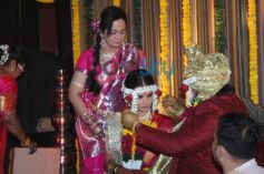 Wedding Of Smita Thackeray Son Rahul Thakre With Aditi Redkar.