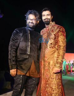 Designer Harish K Vashist with Model
