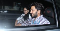 Ritesh Deshmukh And Genelia D'souza Spotted At Light Box