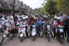 Juhi Chawla  At The NBT All Woman Bike Rally In New Delhi