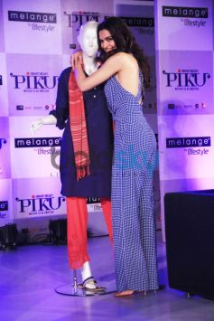 Deepika Padukone and Irrfan Khan At Launch Of Piku Melange Collection