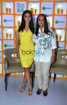 Alia Bhatt And Soni Razdan At Launch Of Garnier Fructis Oil-In-Cream