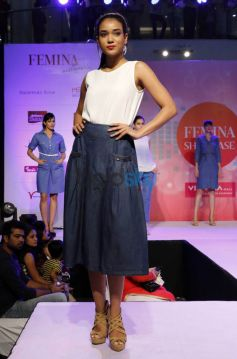 Gail Nicole Da Silva Walking The Ramp At Femina Festive Showcase May 2015