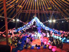 Groom Carlos & Bride Jenny Performing Their Individual Acts At Rambo Circus
