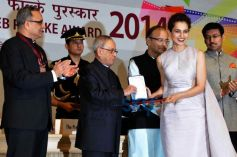 Kangana Ranaut Received National Award At Rashtrapati Bhavan IN NewDelhi
