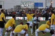 Ranbir Kapoor,Abhishek Bacchan And Arjun Kapoor At A Football Match