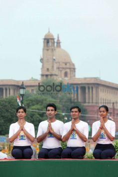 PM Narendra Modi Leads The Mass Yoga Session In Rajpath On International Yoga Day