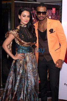 Sana Khan And Girik Aman At Launch Of  New Album BLACK TILL