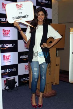 Shilpa Shetty At Launch Of Celebrity-Endorsed Products Of Best Deal TV On Amazon
