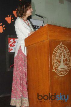 Dia Mirza At Celebration Of World Tiger Day In New Delhi