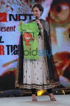 Dia Mirza at NDTV AIRCEL Save Our Tigers event in New Delhi