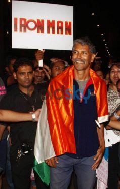 Milind Soman Returns India After Winning Iron Man Award