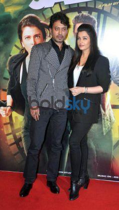 Aishwarya Rai And Irfan Khan At Jazbaa First Look Launch