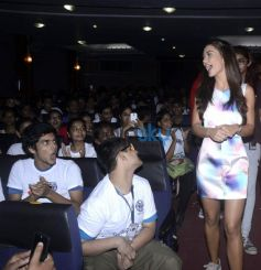Amy Jackson Promotes Film Singh Is Bling At Jai Hind College