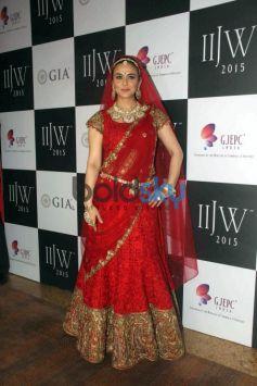 IIJW 2015 - Day 3 Dia Mirza And Preity Zinta For Birdhichand Ghanshyamdas Jewellers