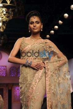 Kanishtha Dhankhar For Thai Gems And Jewelry Traders At IIJW 2015 Grand Finale