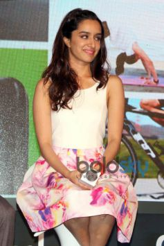 Shraddha Kapoor And Tiger Shroff At Launch Of Fitbit India