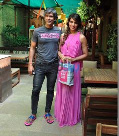 Bipasha And Milind Sonam At Pinkathon Media Meet