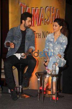 Ranbir And Deepika During The Promotion Of Film Tamasha