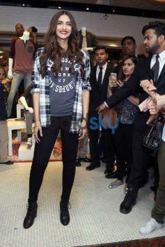 Sonam Kapoor At Launch Of Aerostaple Store