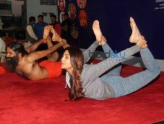 Baba Ramdev And Shilpa Shettys Epic Yoga Session Together