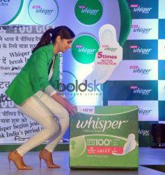 Parineeti Chopra During The Launch Of New Whisper Ultra