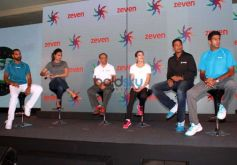 Lara Dutta, Shikhar Dhawan, Mary Kom And Mahesh Bhupati At Zeven Sports Revolution Press Meet