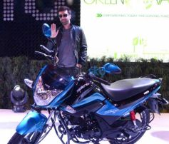Ranbir Kapoor At The HERO Lounge At Auto Expo