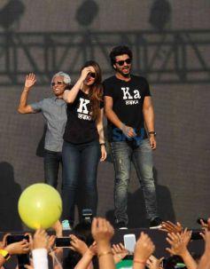 Kareena Kapoor And Arjun Kapoor During The DNA Marathon In Mumbai