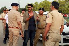 Arjun Kapoor And Chetan Bhagat At A Road Safety Awareness Campaign