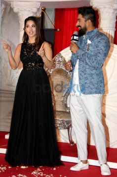 Sunny Leone And Rannvijay Singh During The Launch Of MTV Splitsvilla 9