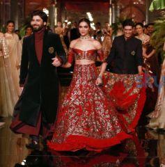 Deepika Padukone And Fawad Khan Walking The Ramp For Designer Manish Malhotra