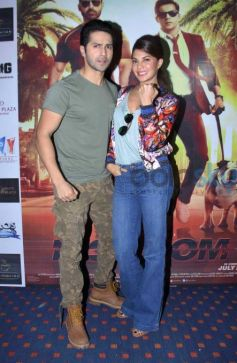 Jacquline Fernandez And Varun Dhawan Promoted Movie Dishoom In Jaipur