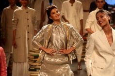 Jacqueline Fernandez Walks For Rajesh Pratap Singh's At Lakme Fashion Week 2016