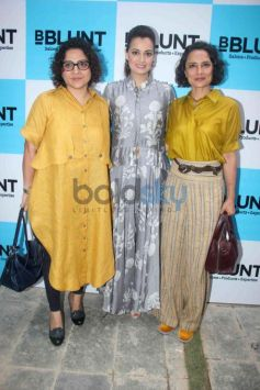 Dia Mirza Unveils 9th BBLUNT Salon In Mumbai
