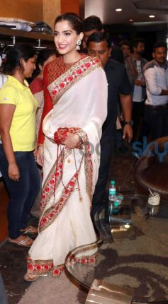 Sonam Kapoor At Launch Of India Bridal Fashion Week First Wedding Store
