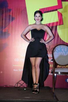 Sunny Leone Kills It In A Classic LBD With A Twist For Song Launch